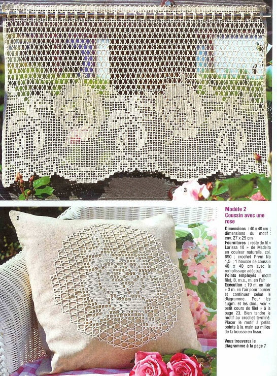 Valance - filet crochet