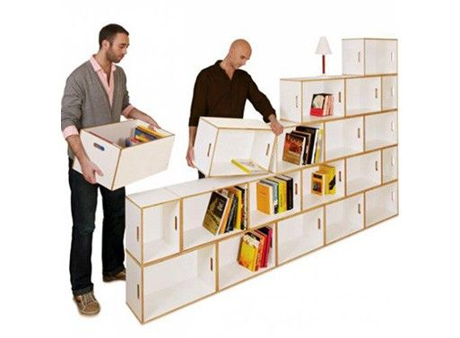 Wish I had these when I was packing up and moving.  I could've kept more books!    BrickBox — Bookcases -- Better Living Through Design: Bookshelves, Ideas, Better Living, Boxes, Brickbox Bookcases, Space, Design, Storage