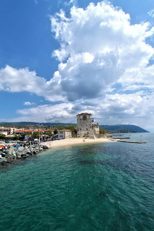 Tower of Ouranoupoli, Chalkidiki, Greece #kitsakis
