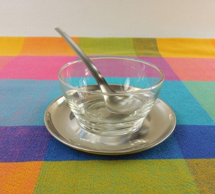 Kalmar Design Denmark - Relish Jelly/Jam Condiment Bowl Under Plate Ladle - Danish Modern