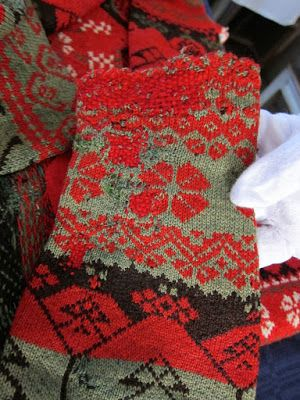 A mended old Delsbo sweater from Hälsingland county, Sweden | Nördic Knitting