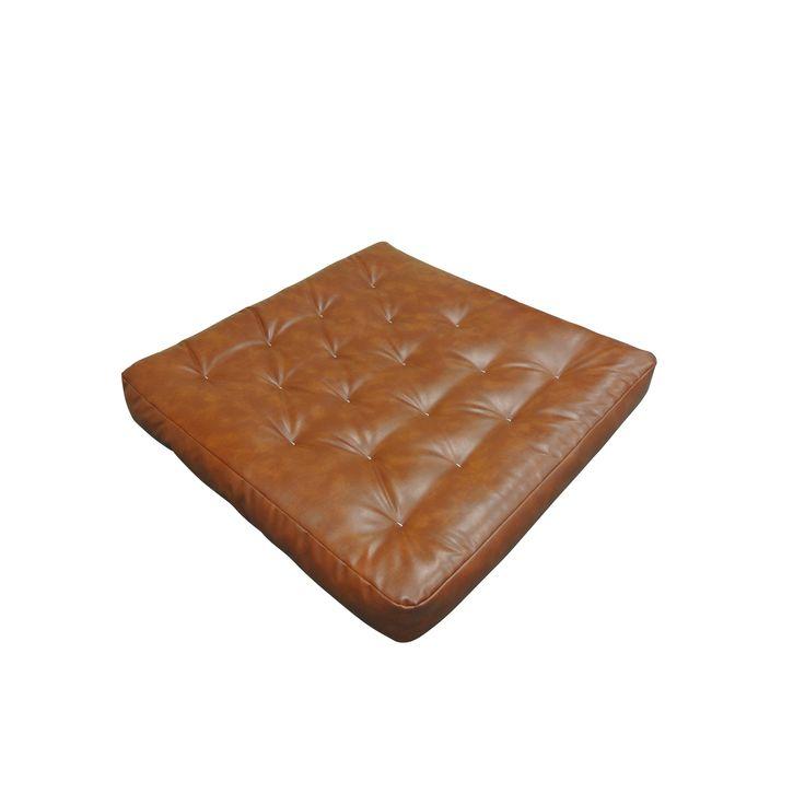 Saddle Leather/Double Foam/ 8-inch x 54-inch x 54-inch Loveseat Futon Mattress