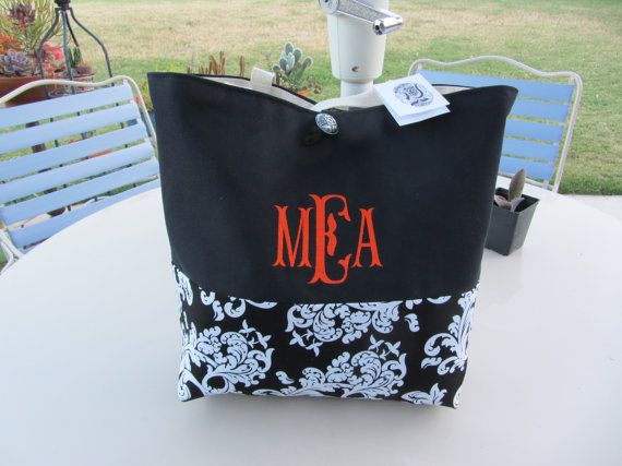 Large Personalized Monogrammed Market Bag by RiginalsByRuth, $70.00