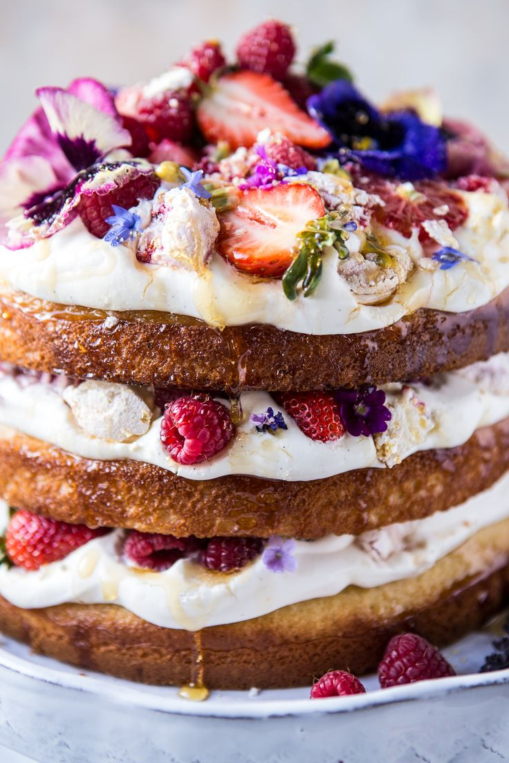 *For Mothers Day Picnic* Coconut Eton Mess Cake with Whipped Ricotta Cream | halfbakedharvest.com @hbharvest