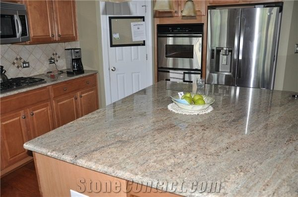 Ivory Chiffon Granite Kitchen Countertop, Beige Granite Kitchen Countertops