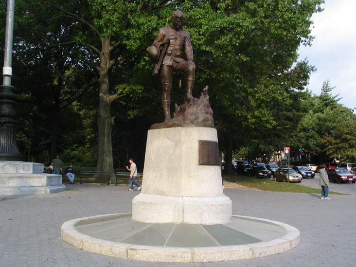 Richmond Hill Doughboy (My Buddy Monument), Memorial Drive Entrance, Forest Park, Queens