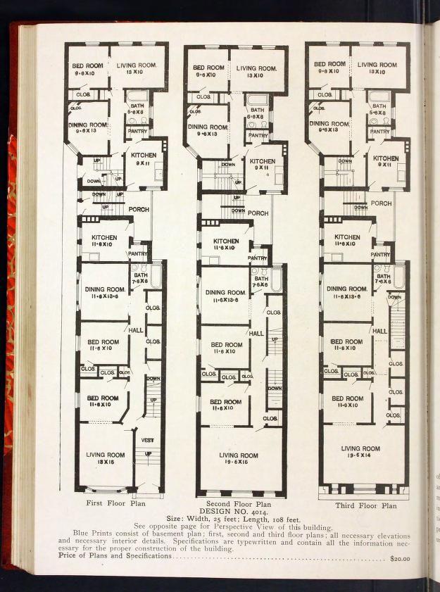 Radford S Portfolio Of Plans A Standard Colle House Floor Plans Floor Plan Design Vintage Apartment