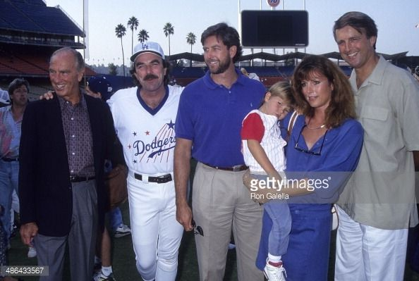Actor Tom Selleck father Robert brother Daniel sister Martha and son Logan and brother Robert Jr attend the 35th Annual 'Hollywood Stars Night'...