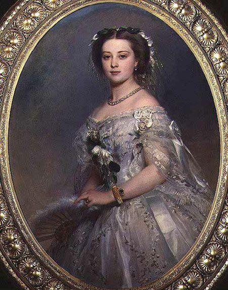 Victoria, Princess Royal (eldest daughter of Queen Victoria and mother of Kaiser Wilhelm II), 1857.  Franz Xaver Winterhalter