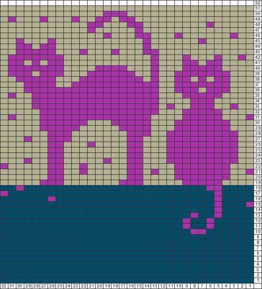Gráficos Tricksy Knitter: Gatos na cerca por christine1: