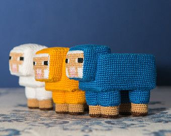"Crochet Pattern of Sheep from ""Minecraft"" (Amigurumi tutorial PDF file)"