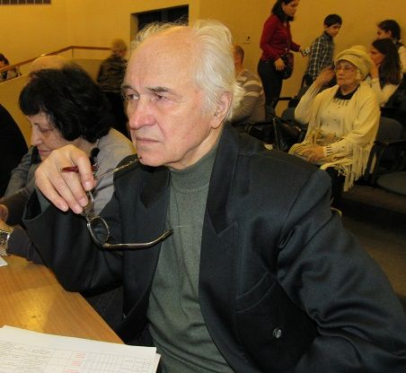 """ugen Doga for 15 years permanent chairman of the jury All-Russian Public Movement """"Talented Children of Russia"""". At the qualifying round, March 2015"""