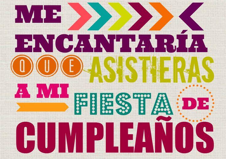 Invitación fiesta de #cumpleaños imprimible #gratis www.manualidadesytendencias.com  #freebies