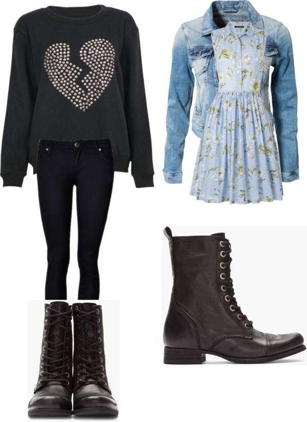 """""""Combat Boot Outfits!"""" by samkt ❤ liked on Polyvore"""