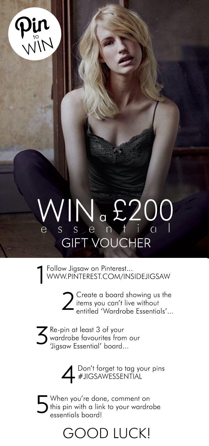 PIN TO WIN A £200 ESSENTIAL GIFT VOUCHER — Jigsaw Essential pieces are designed with style and crafted to last.