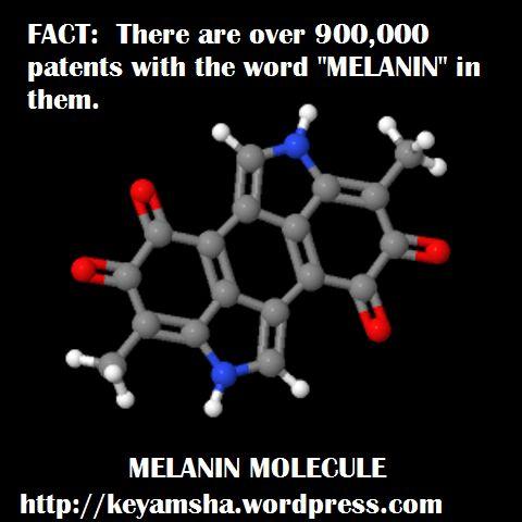 Melanin molecule. 9+0+0+0+0+0=9