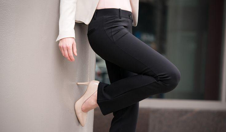 Black dress yoga pants 16
