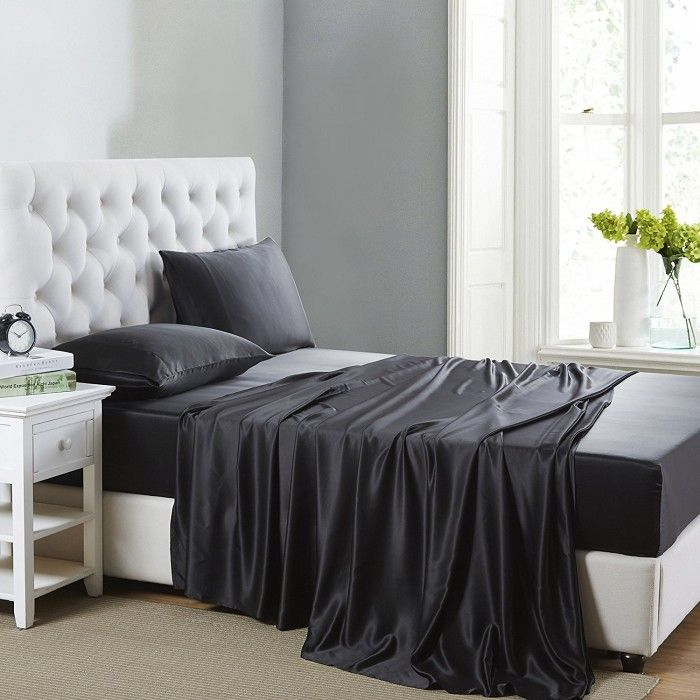 12 best de 4 teiliges bettw sche set aus seide images on. Black Bedroom Furniture Sets. Home Design Ideas