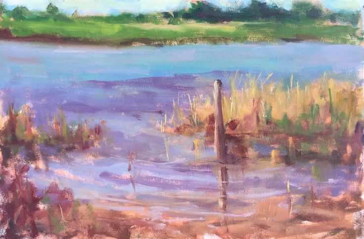 Across The Lake, Our Lady's Island by Jane Meyler on ArtClick.ie
