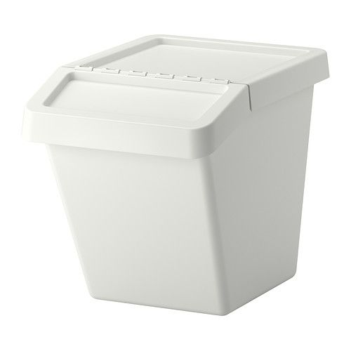 SORTERA Recycling bin with lid IKEA You can easily access the contents of a bin, even when stacked, because it has a folding lid.
