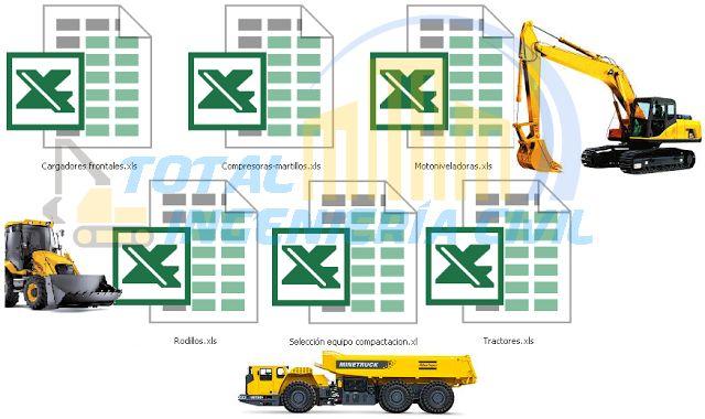 Calculo De Rendimientos De Maquinaria Pesada Plantillas En Excel Con Los Rendimientos De Maquinarias En Metros Cubico Plantillas Excel Maquinaria Pesada Pesas