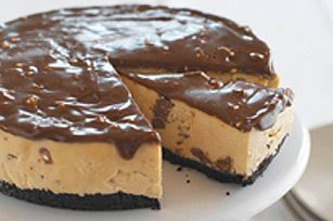 """No-Bake Peanut Butter-TOBLERONE Cheesecake recipe """"Have made this twice for different functions and I never bring any of it home!"""""""