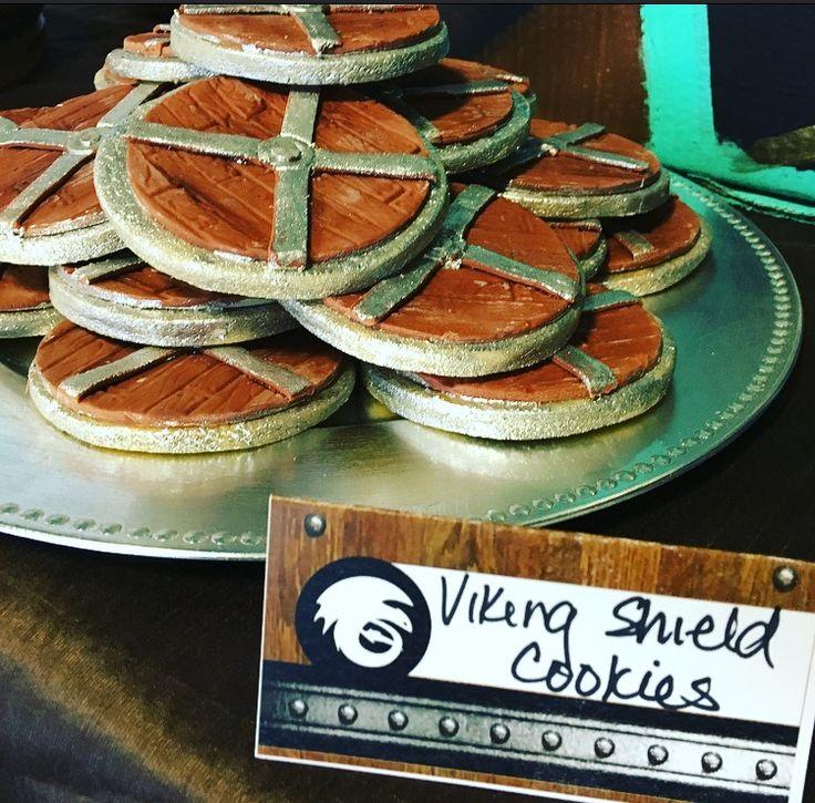 Viking Shield Cookies  https://www.facebook.com/mudpieparties/