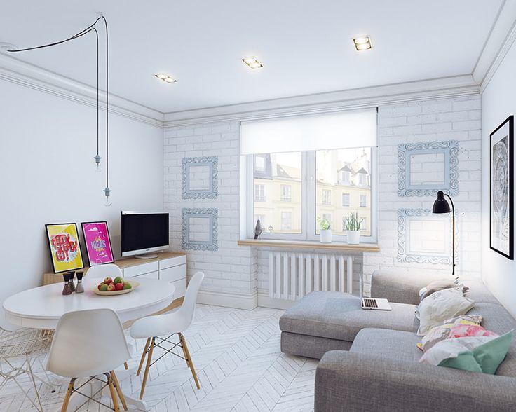 22-decoracao-cores-neutras-e-colorido. Apartamento pequeno de 35 m2