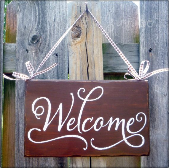 Welcome Sign love the writing style