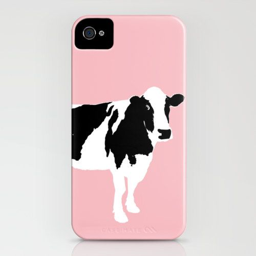 20% SALE Cow on pink on your iPhone Case - (4S, 4, 5, 5S) , pink, color, iphone, cases, robust, iPhone 5