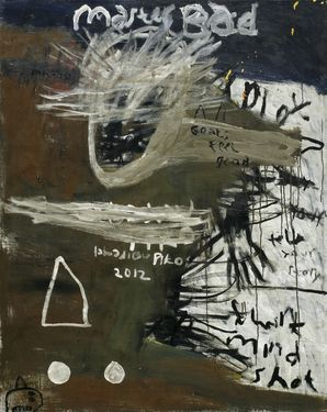 "Saatchi Art Artist Iabadiou Piko; Painting, ""Master Bad"" #art"