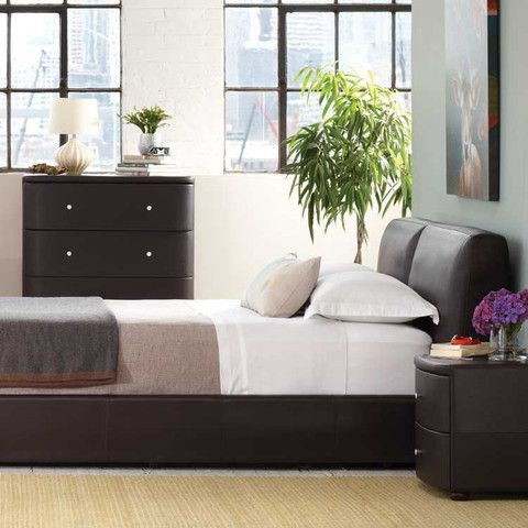 Kasala Modern Leather Platform Bed Furniture Stores Seattle Bedrooms Pinterest Seattle
