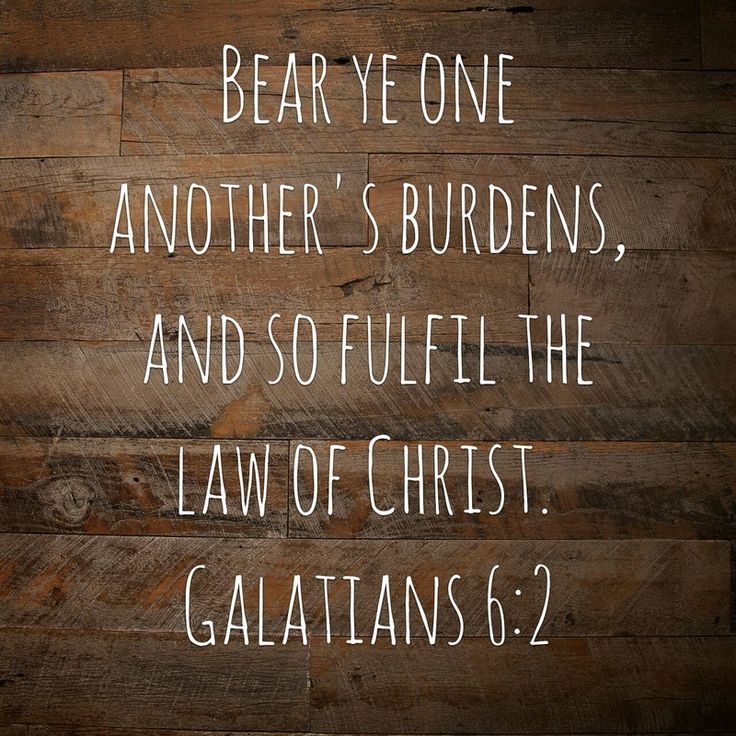 Daily Manna 2/24/16 Bear ye one another's burdens, and so fulfil the law of Christ.  Galatians 6:2 ​ http://www.davidlmarks.com/daily-manna/daily-manna-22416