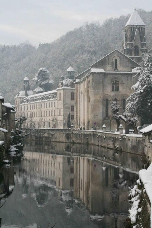 The beautiful small town of Brantôme in the Périgord blanc: Winter Snow, Small Town, Winter Scene, Brantôm, Beautiful Small, Places, Southern France, Périgordblanc, Périgord Blanc