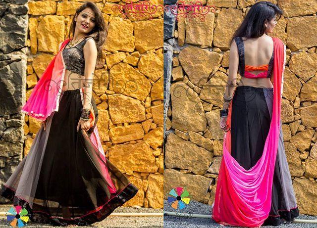 Fashionable #black #chaniyacholi for #navratri 2015