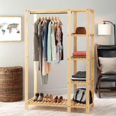 Slat Wood Wardrob