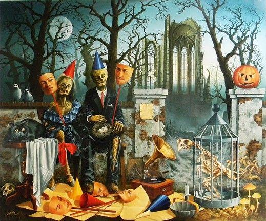 Sprzedawcy masek na halloween - from http://www.touchofart.eu/Zbigniew-Hinc/zhi12-Sprzedawcy-masek-na-halloween/