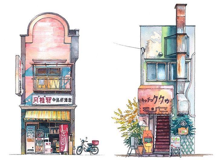 Este artista polaco logra capturar la simpleza de las tiendas de la ciudad con un talento impresionante