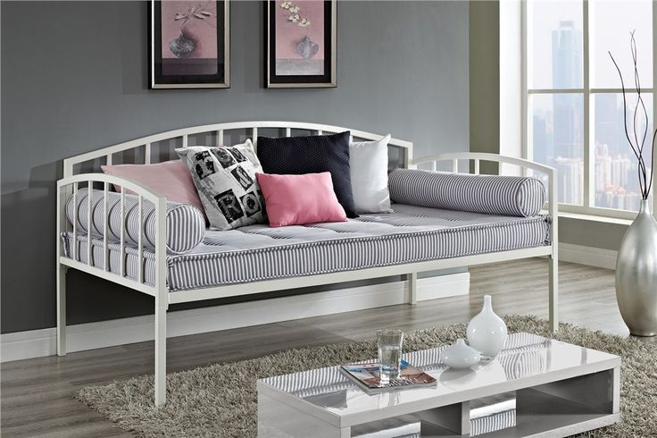 DHP Ava Twin Metal Daybed in White- Dorel Home Products- Walmart.ca