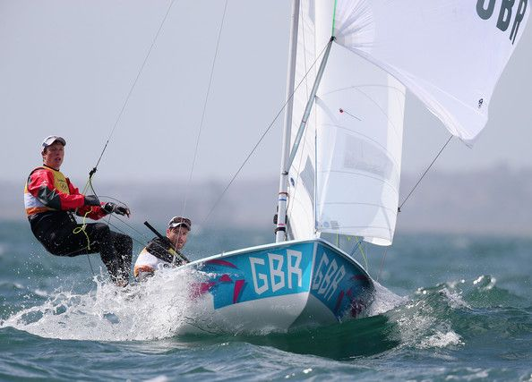Stuart Bithell Luke Patience and Stuart Bithell of Great Britain compete in the Men's 470 Sailing on Day 8 of the London 2012 Olympic Games ...
