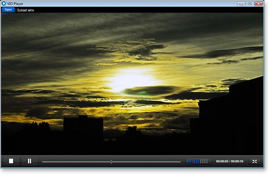 VIO Media Player is a free video player capable of playing most popular video formats. VIO Player gives you only the simplest features needed to playback videos, therefore making it very light-weight and not very resource intensive. Allowing you to playback videos without slowing down your PC.