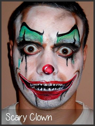 Best 25 scary clown face ideas on pinterest scary for Face painting clowns for birthday parties
