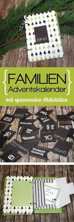 Adventskalender für die ganze Familie mit spannenden Aktivitäten für die Adventszeit zum selber basteln!