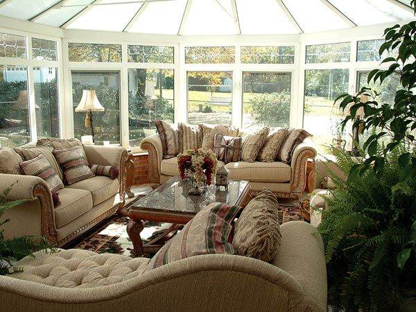 Great Sunrooms | Luxury Classic Sofa Sets Furniture Sunroom Ideas The Different  Options .