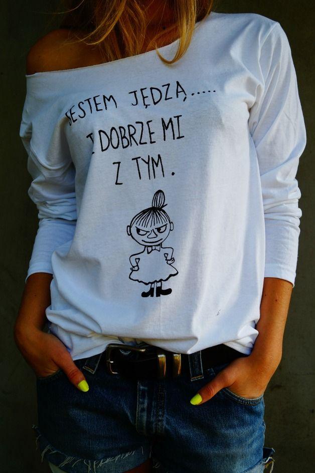 I&G JESTEM JĘDZĄ... MAŁA MI RĘCZNIE MALOWANA - IandG_diy_for_you - Koszulki z napisami
