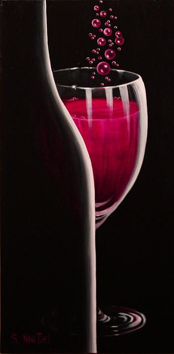 """RSVP Requested"" is a romantic, sensual invitation to celebrate. Originals prints of #sensual #romantic #wine art at http://sandi-whetzel.artistwebsites.com"