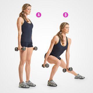 Dumbbell Side Lunge http://www.womenshealthmag.com/fitness/personal-trainer-butt-exercises?slide=2
