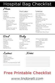The 25 best birth plan printable ideas on pinterest pregnancy maternity labor and delivery hospital bag checklist for pregnant moms to be will help you get organized before you head to the hospital to give birth pronofoot35fo Choice Image