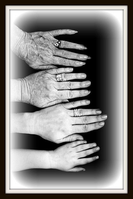 4 generations. Should've done this with nana:( guess ill have to wait until one of my girls have a baby:)