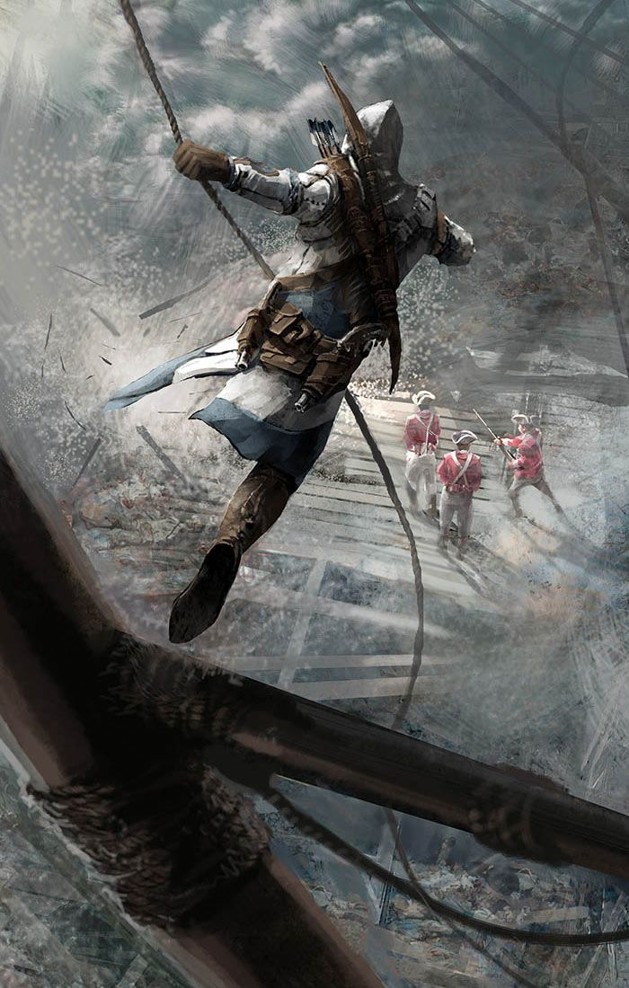 Death From Above - Pictures & Characters Art - Assassin's Creed III